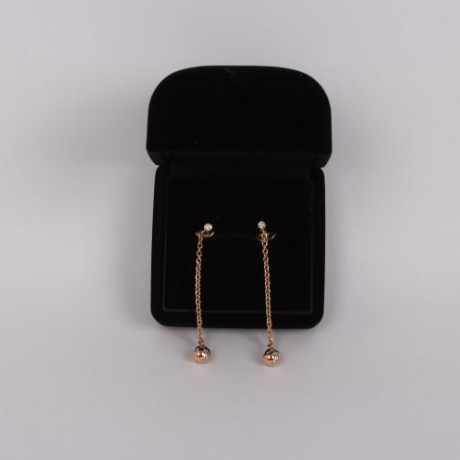 Long earrings pendants 3 golds 18k