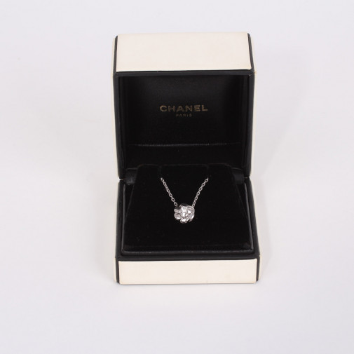 Necklace and pendant Camelia diamond