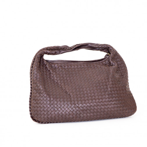 Hobo handbag large model  Intrecciato leather