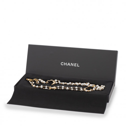 Pearl and gold plated long necklace NEW!