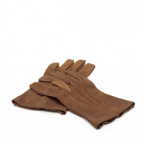 Paire de gants pour homme en cuir d'agneau et daim
