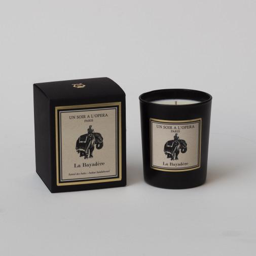 Bougie parfumée LA BAYADERE Santal des Indes d'après le ballet de Minkus. (Vendu par lot de 2 bougies)