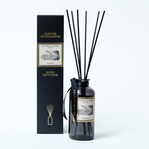 Home reed diffuser Carmen with natural rattan sticks (Sold in sets of two diffusers)