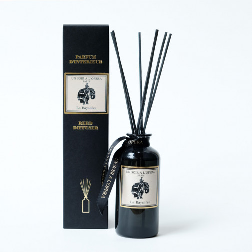 Home reed diffuser La Bayadere with natural rattan sticks (Sold in sets of two diffusers)