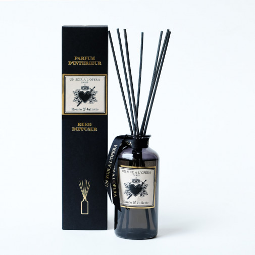 Home reed diffuser Romeo and Juliet with natural rattan sticks (Sold in sets of two diffusers)