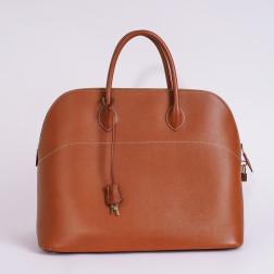 Handbag Bolide 45 Courchevel gold leather