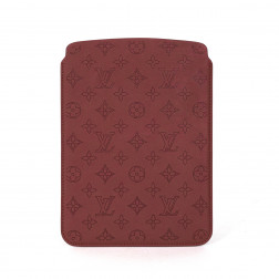 Case for Ipad Air in red Perforated Monogram leather