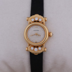 Lady's Round jewel-watch gold 18k