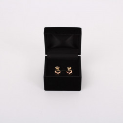 Pair of ear clips gold and diamonds
