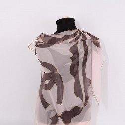 Chiffon silk shawl