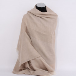 Stole Grand H beige Cashmere and wool