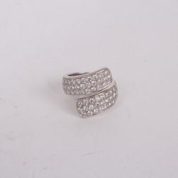 Ring white gold 18k set with diamonds
