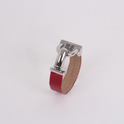 Lady's watch Cadenas stainless steel and red crocodile bracelet