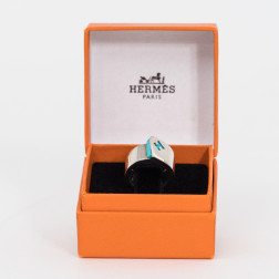Ring Candy in silver and a turquoise stone