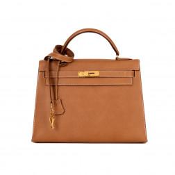 Handbag Kelly 32 Piqué Sellier gold Courchevel leather