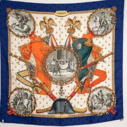 Scarf Napoléon damasked silk