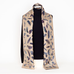 Double sided scarf in angora wool and silk