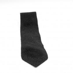 100% black wool tie