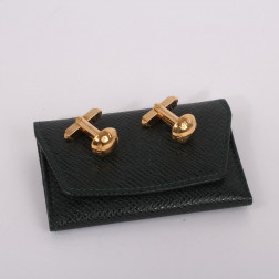 Pair of gold metal Clous cufflinks