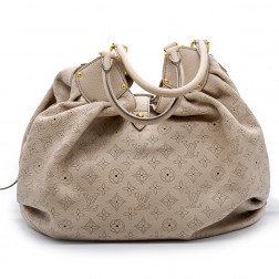 Handbag Mahina XL Monogram perforé in beige-pink leather