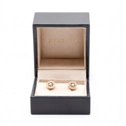 Paire de boucles d'oreilles Bulgari-Bulgari or rose 18k et en diamant 0.20 cts