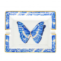 Cendrier Papillon en porcelaine de Limoges