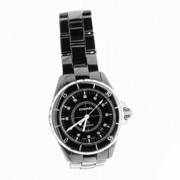 J12 watch black ceramic 38 mm automatic and diamond Index