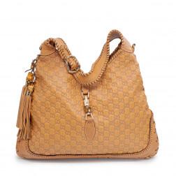 New Jackie Guccissima Large shoulder bag light brown leather