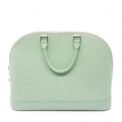 Handbag Alma water green Epi leather M.M.