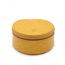 Yellow Tbilissi P.M.epi leather travel jewelry box