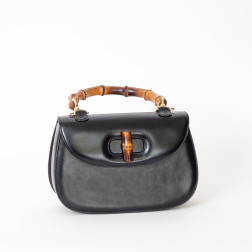 Handbag Bamboo large Model black boxcalf